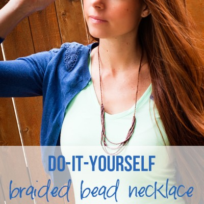 DIY Braided Bead Necklace