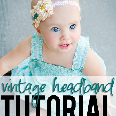 Vintage Sequin Flower Headband