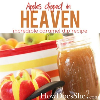 Caramel Apple Dip Recipe: Apples dipped in HEAVEN