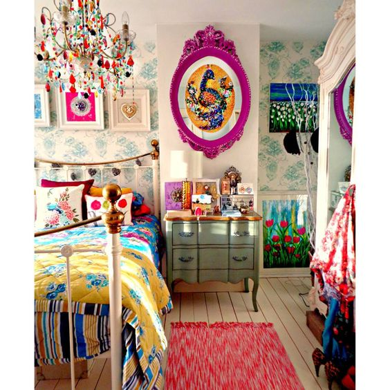 Colorful Boho Room: 19 Boho Chic Touches For Your Hair, Home, And Wardrobe