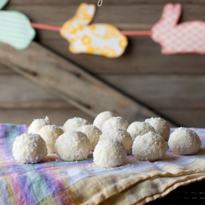 How To Make Coconut Cream Truffles: Easter Bunny Tails!