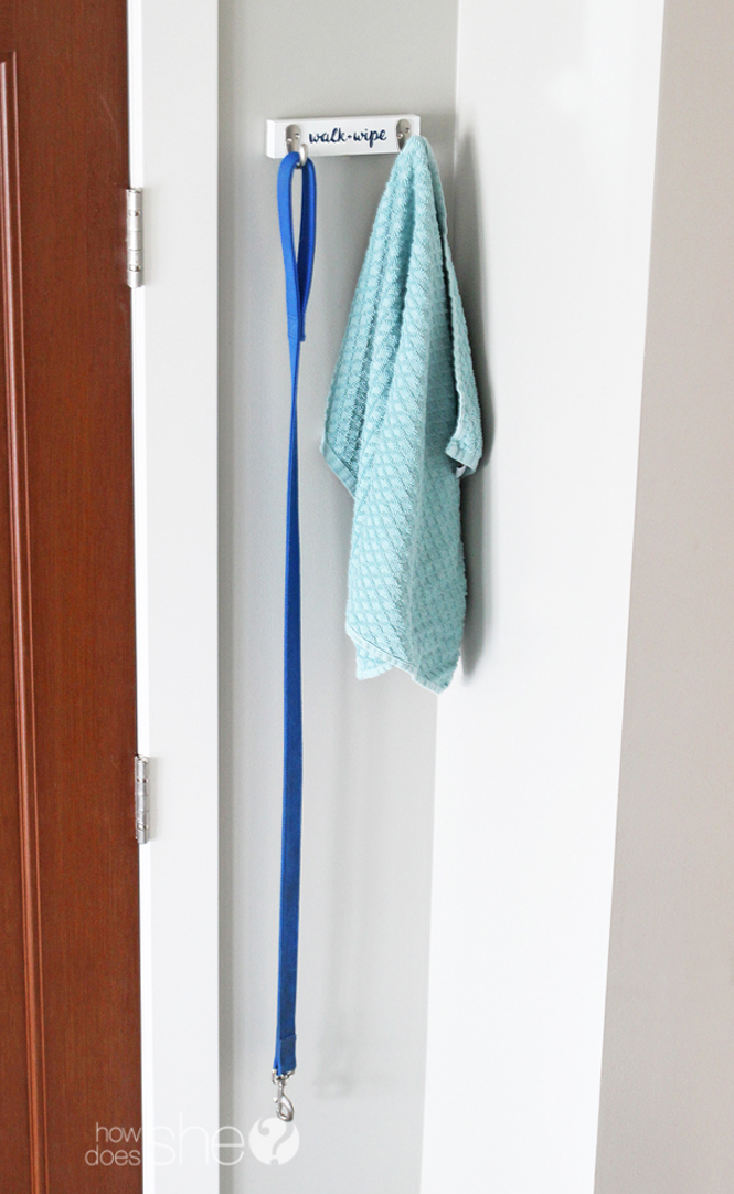 towel and dog leash holder