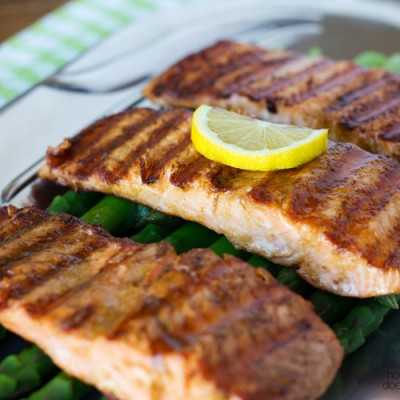 Easy 3 Ingredient Grilled Salmon:  20 minutes is all you need!