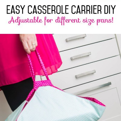 Casserole Carrier Easy DIY Adjustable for Different Pans!