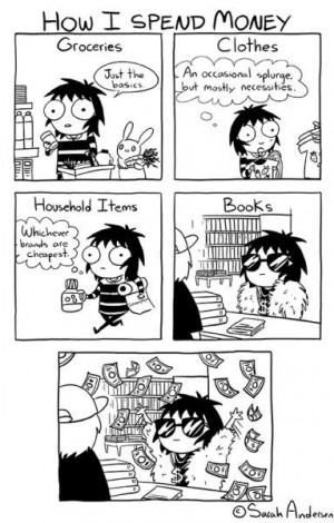 Book Buying Habit Comic by Sarah Anderson
