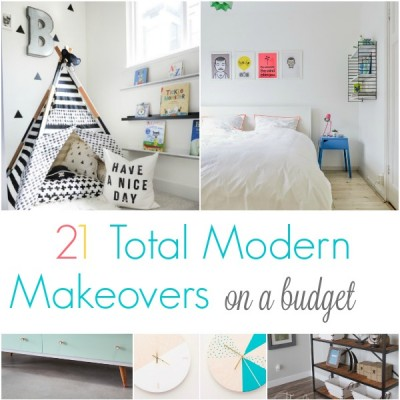 21 Modern Makeovers on a Budget