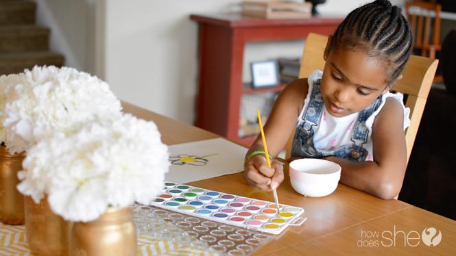 Quiet Activities focused on art for kids