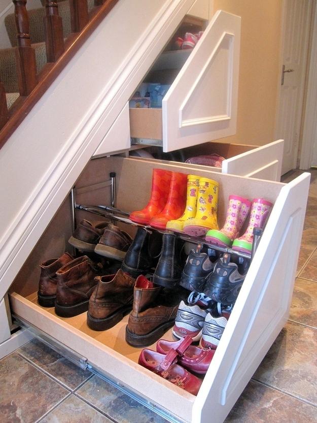 Under Stairs Shoe Storage Drawers