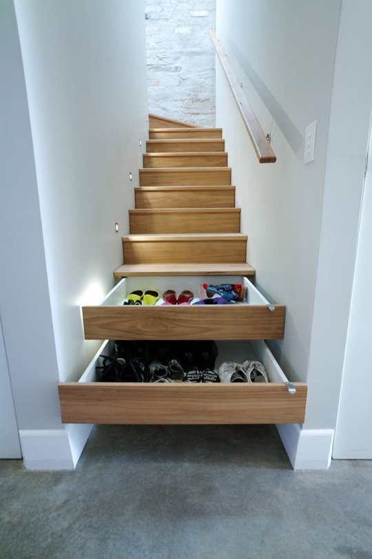 stairs that double as shoe storage