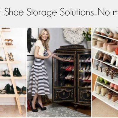 14 Smart Shoe Storage Solutions…No More Piles!