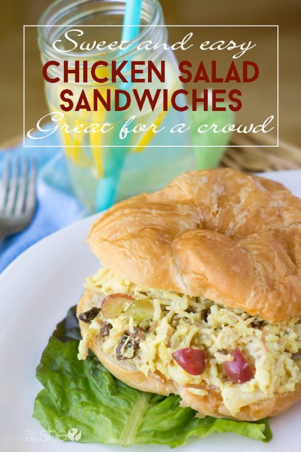 Sweet and easy chicken salad sandwiches Great for a crowd