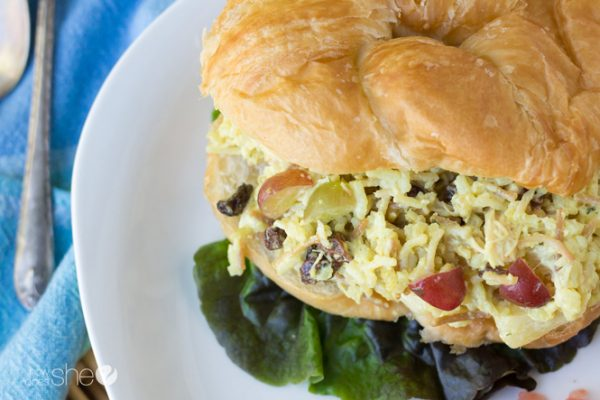 Sweet and easy chicken salad sandwiches Great for a crowd (9)