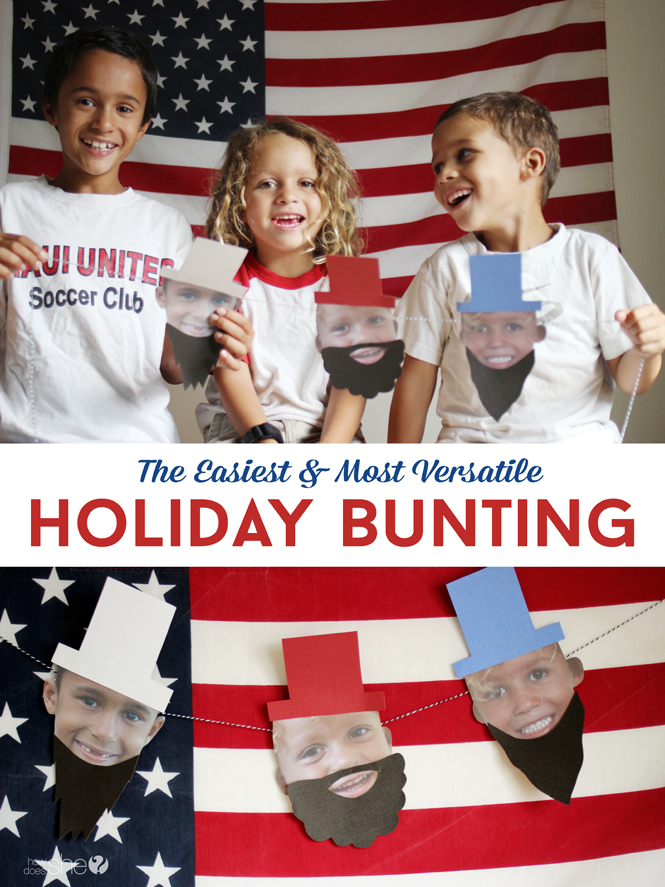 The easiest & most versatile holiday bunting