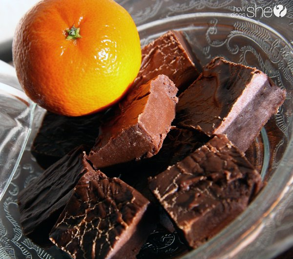 Easy Last Minute orange chocolate fudge