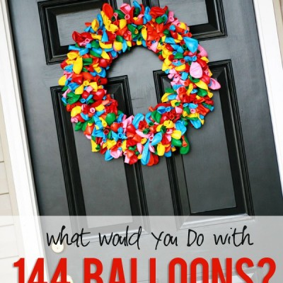 How do you make a birthday wreath?