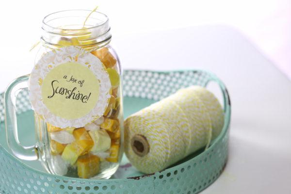 Easy Gift Idea - Create a Jar of Sunshine!