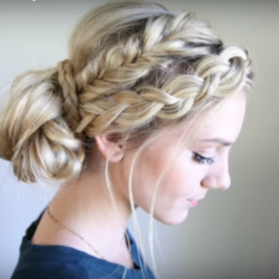 Mixed Braid Bun – Beautiful Updo
