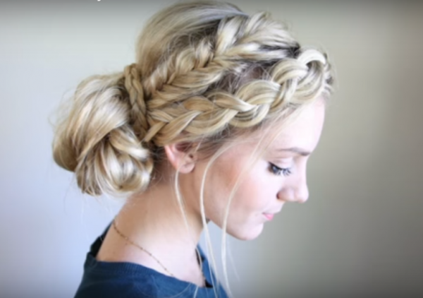 Mixed Braid Bun