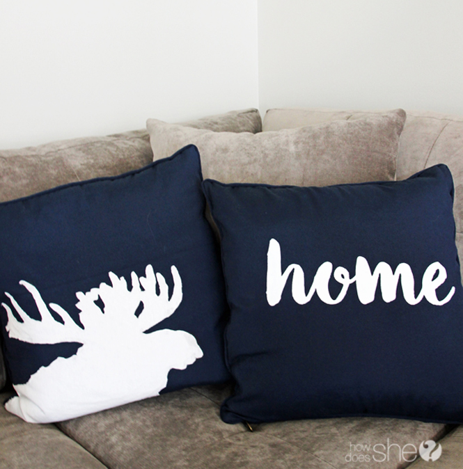 DIY painted pillow tutorial