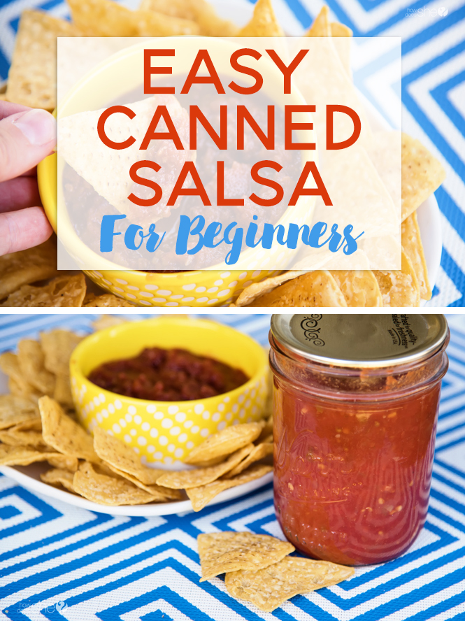 Easy canned salsa for beginners