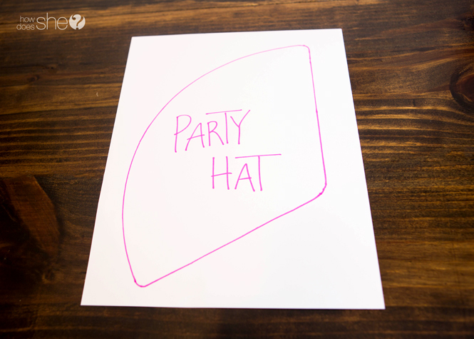 Kids' Party Hat - Pom Pom Style (1)