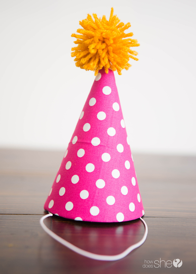 Kids' Party Hat - Pom Pom Style (22)