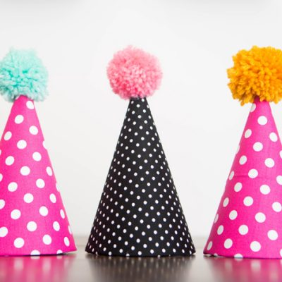 Kid's Party Hat – Pom Pom Style