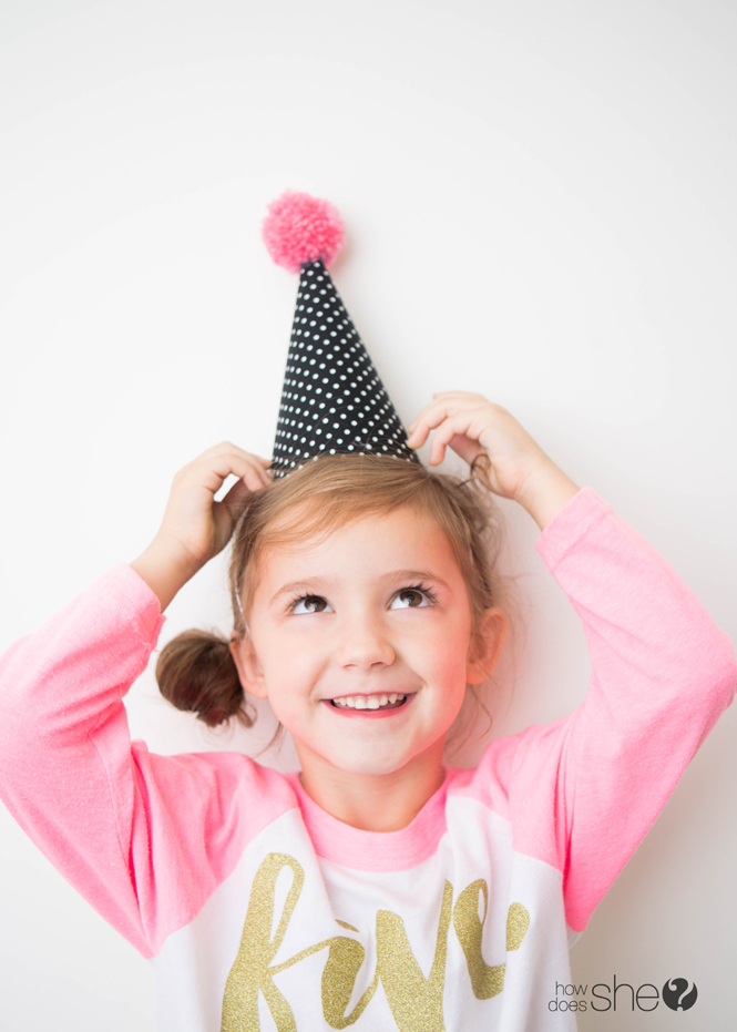 Kids' Party Hat - Pom Pom Style (26)