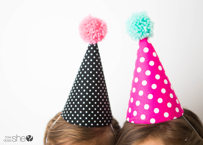 Kids' Party Hat - Pom Pom Style (27)