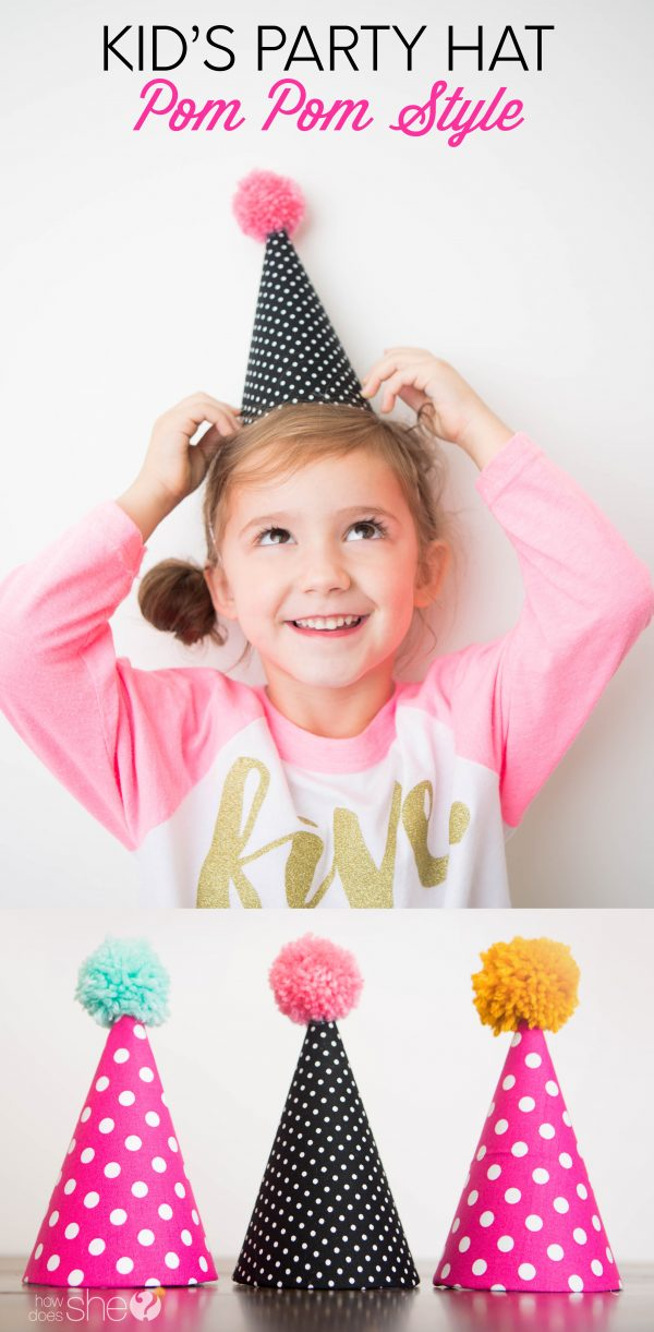 Kids' Party Hat Pom Pom Style