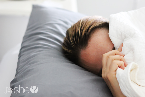 things you should know- don't procrastinate shows woman in bed