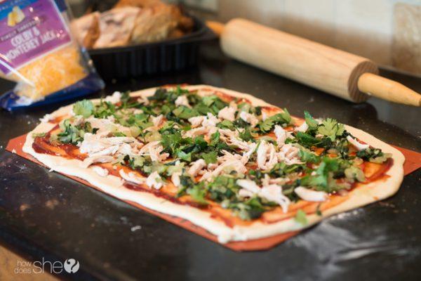 BBQ chicken pizza rolls (4)