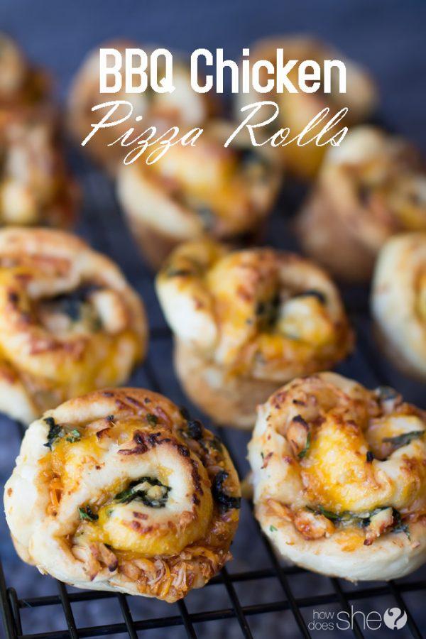 BBQ chicken pizza rolls