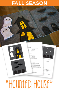 YOUR Quiet Book Holidays - Haunted House