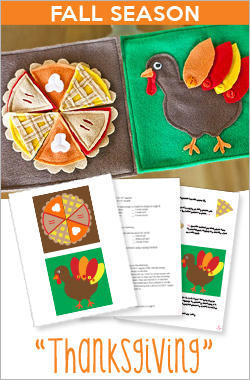 YOUR Quiet Book Holidays - Thanksgiving