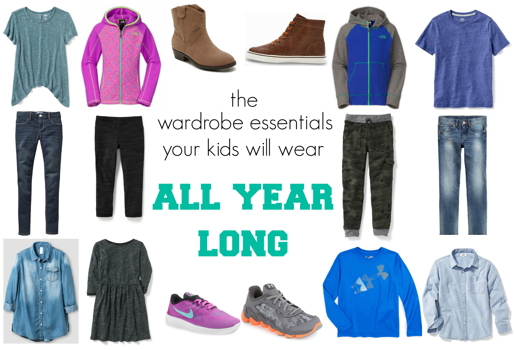 the wardrobe essentials your kids will wear all year long