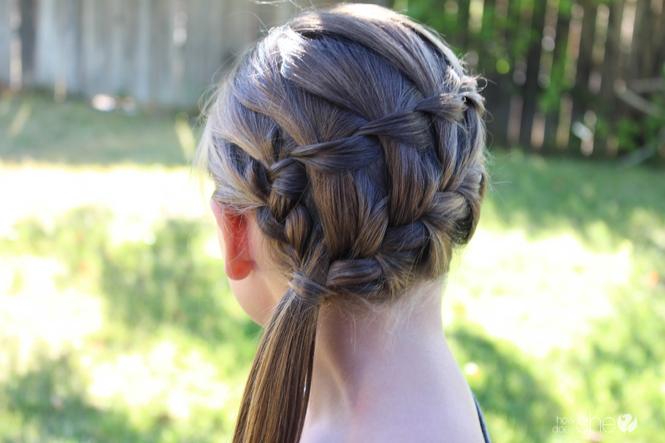 A Waterfall French Braid Combo