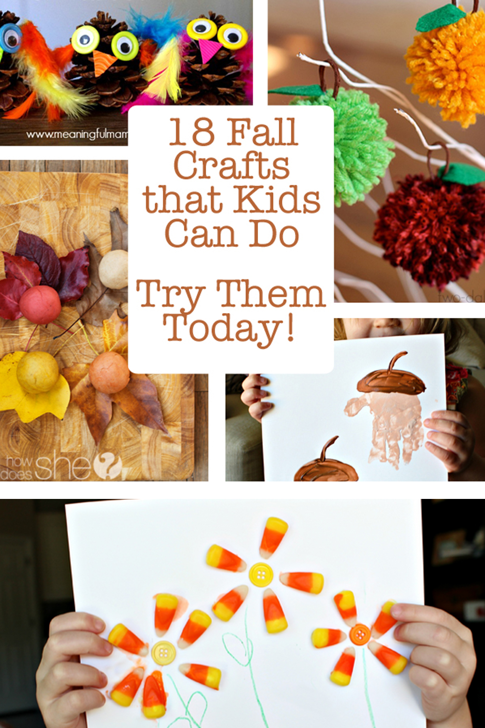 18 fall crafts for kids