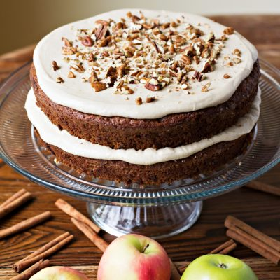 Apple Spice Cake with Brown Sugar Frosting:  Perfect for fall!