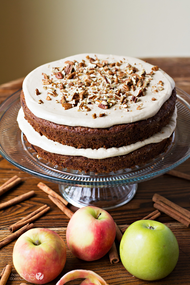 Apple Spice Cake with Brown Sugar Frosting: Perfect for fall! | How ...