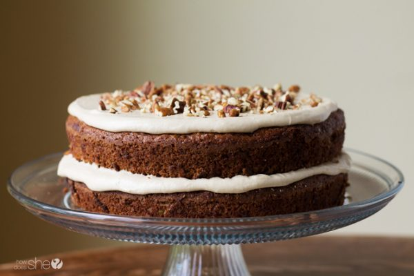 Apple spice cake with brown sugar frosting (5)