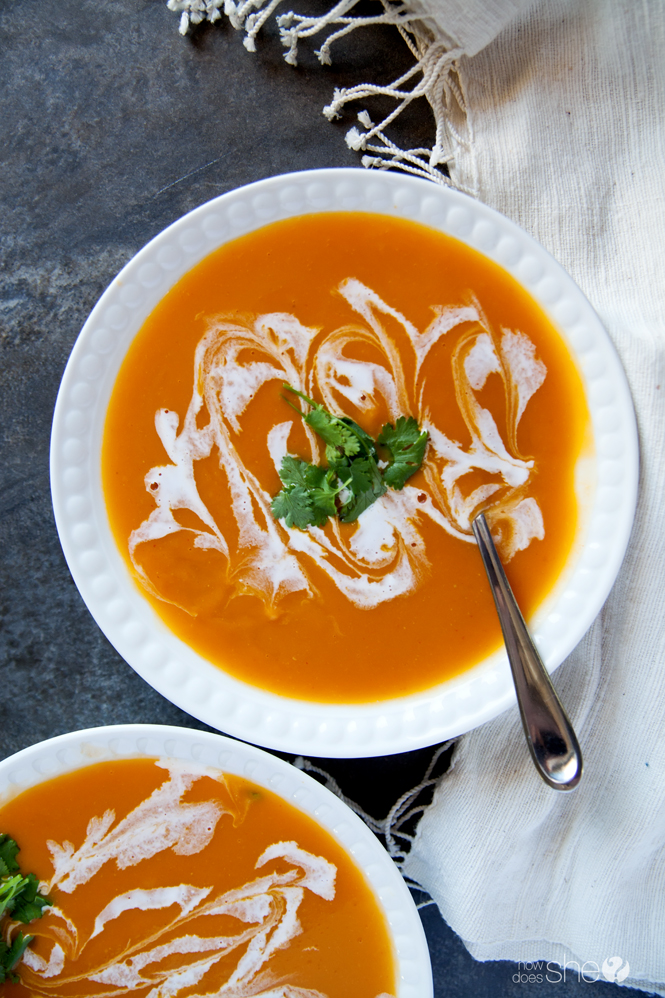 Thai Curry and Coconut Butternut Squash Soup