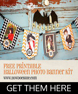 FREE exclusive SpOOky Banner!  Free Halloween Printables Decorations