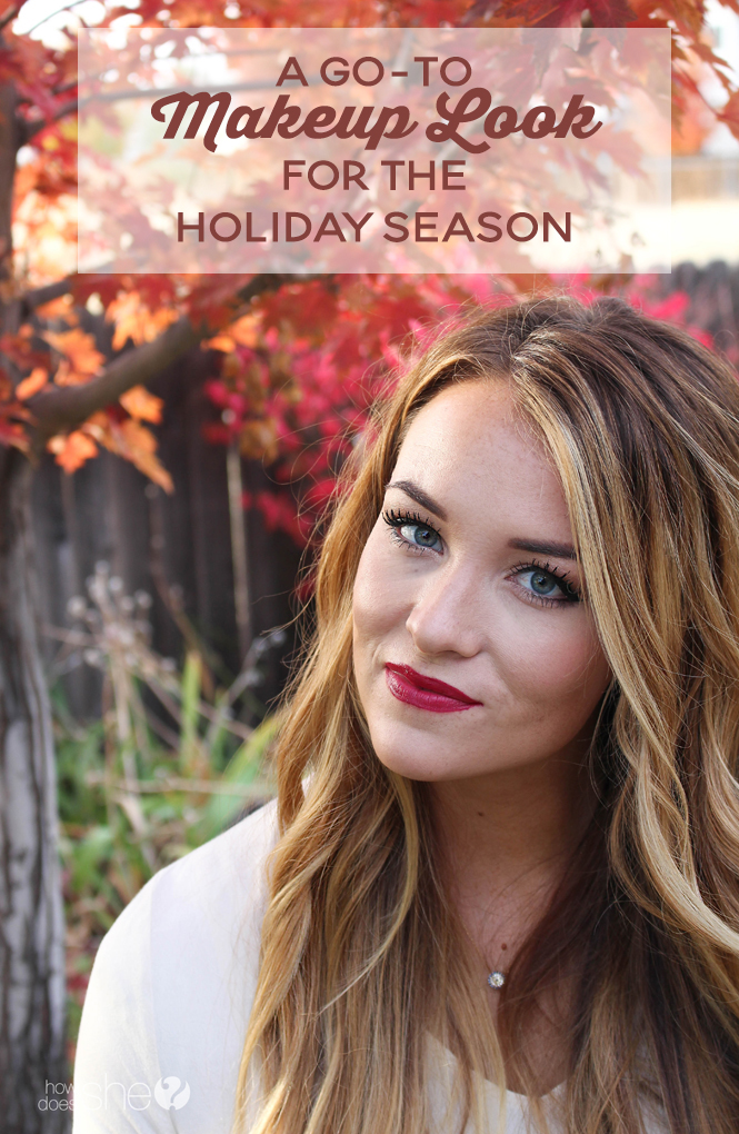 A Go-To Makeup Look for the Holiday Season