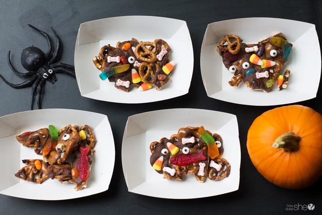 Graveyard Caramel Crunch:  Try this spooky Halloween treat!