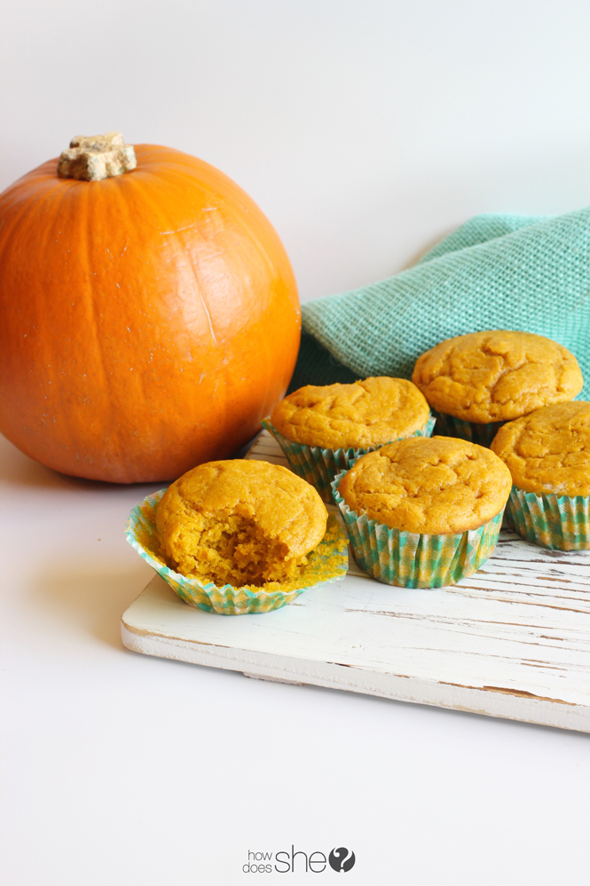 Easy Pumpkin Muffins - Using Ingredients You Already Have!