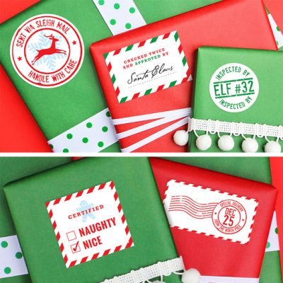Fancy Up Your Christmas Gifts with Personalized Stickers PLUS an EXCLUSIVE Discount!