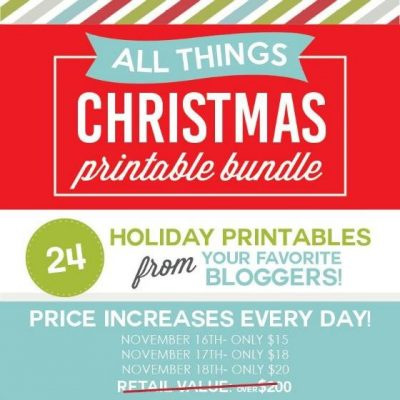 The Ultimate Christmas Printable Bundle From Your FAVORITE Bloggers