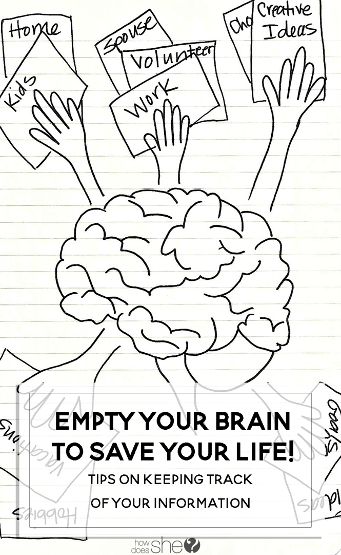 Empty your brain to save your life! Tips on keeping track of your information