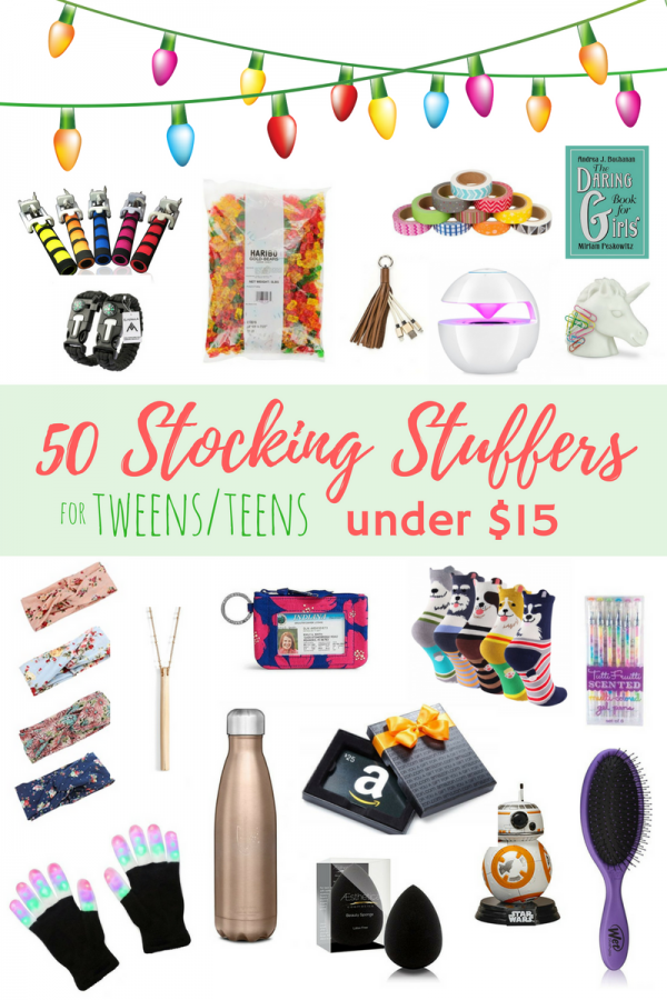 Looking for ways to fill your teen or tween's stocking? With 97 ideas to choose from you can find ideas in your budget for even the pickiest teen. Home / Christmas / 97 Stocking Stuffers for Teens or Tweens. 97 Stocking Stuffers for Teens or Tweens. (Looking for stocking stuffer ideas .